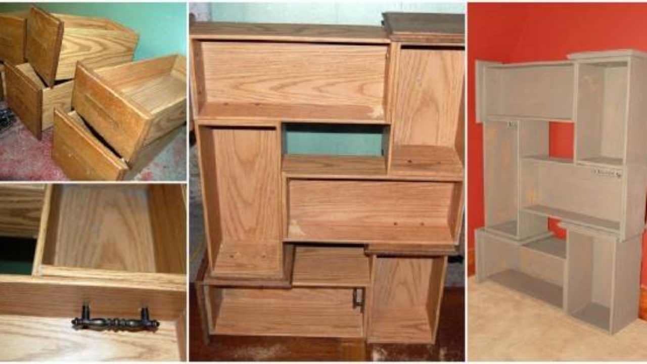 Diy Repurpose Old Drawers Into Awesome
