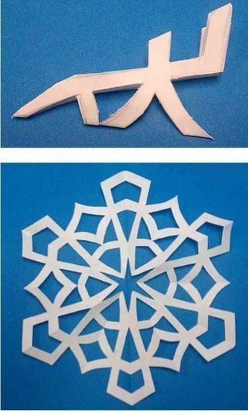 Creative Ideas - 8 Easy Paper Snowflake Templates
