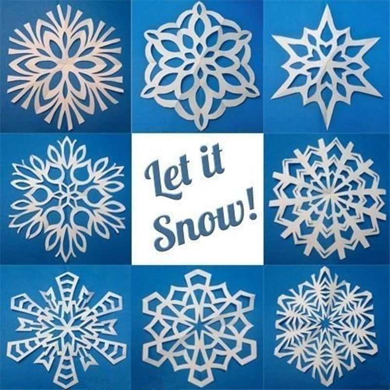 Creative ideas 8 easy paper snowflake templates maxwellsz