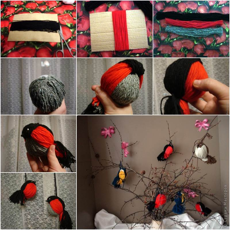 Creative Ideas - DIY Adorable Yarn Birdies