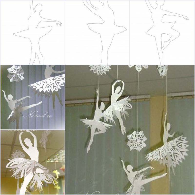 Creative Ideas - DIY Beautiful Snowflake Ballerinas from Templates