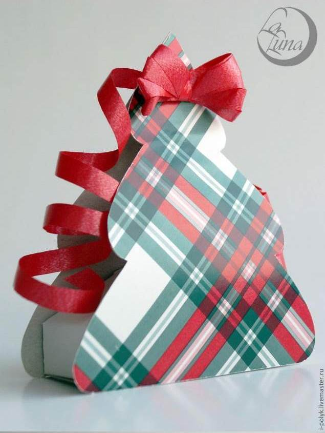 Creative Ideas - DIY Cute Christmas Tree Gift Box 11