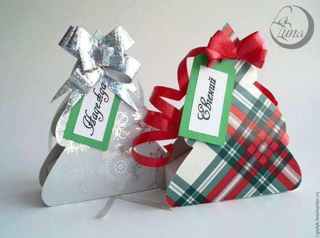 Creative Ideas - DIY Cute Christmas Tree Gift Box 12