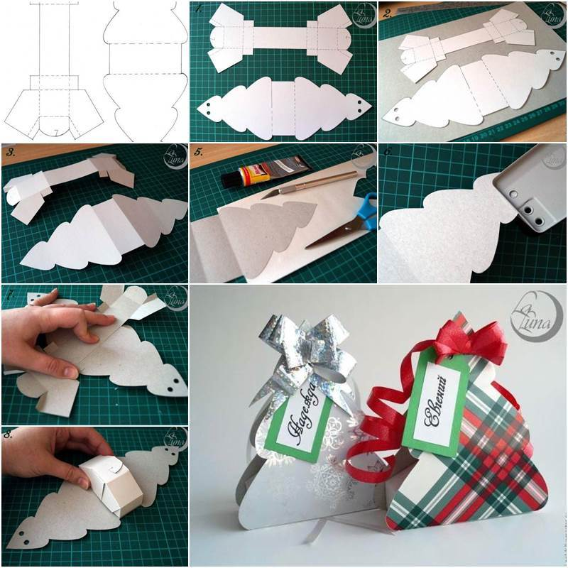 Creative Ideas - DIY Cute Christmas Tree Gift Box