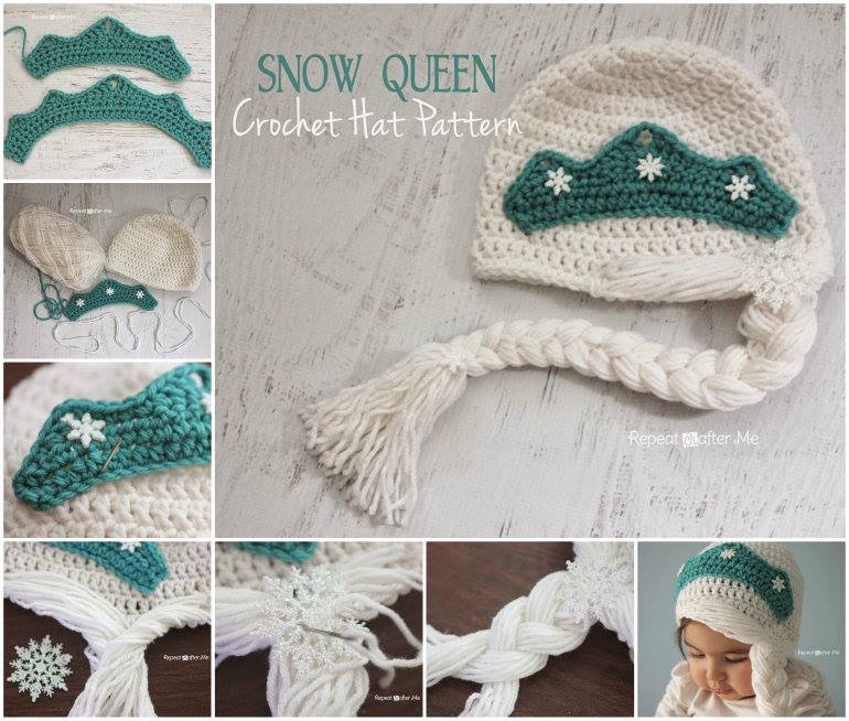 Creative Ideas Diy Cute Crochet Snow Queen Hat