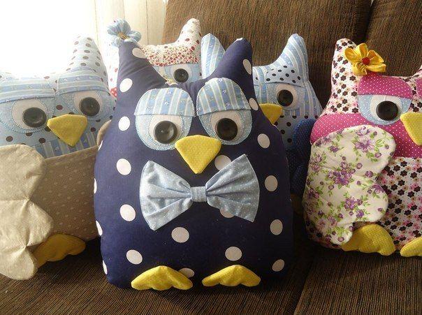 Creative Ideas - DIY Cute Fabric Owl Ornaments with Free Pattern 2