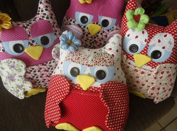 Creative Ideas Diy Cute Fabric Owl Ornaments With Free
