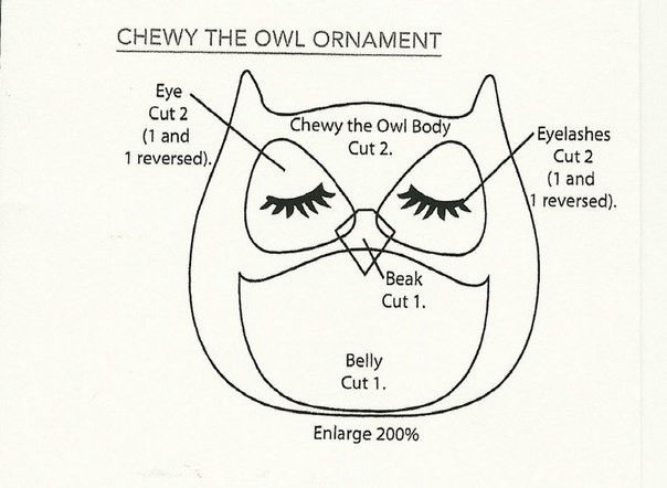 Creative Ideas - DIY Cute Fabric Owl Ornaments with Free Pattern 8