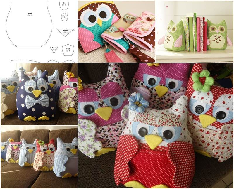 Creative Ideas - DIY Cute Fabric Owl Ornaments with Free Pattern