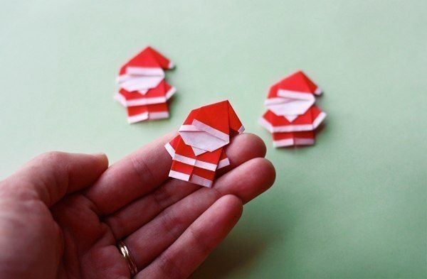 Creative Ideas - DIY Cute Origami Santa 1