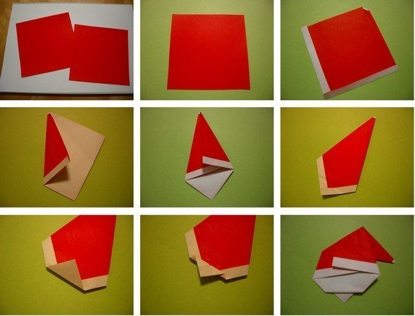 Creative Ideas - DIY Cute Origami Santa 3