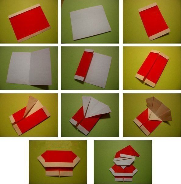 Creative Ideas - DIY Cute Origami Santa 4