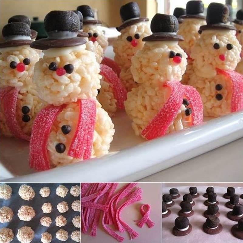 Creative Ideas - DIY Cute Rice Krispie Snowman