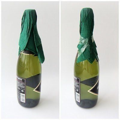 Creative Ideas - DIY Decorated Holiday Champagne Bottle 2