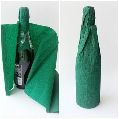 Creative Ideas - DIY Decorated Holiday Champagne Bottle 3