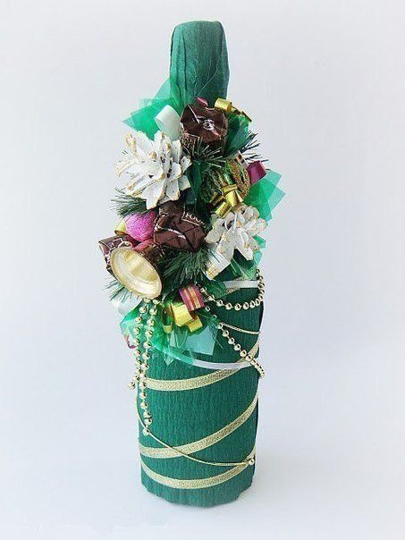 Creative Ideas - DIY Decorated Holiday Champagne Bottle 5