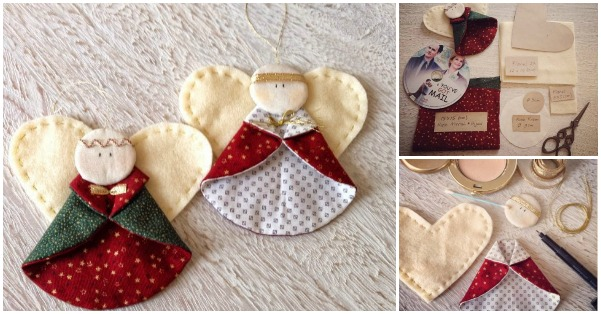 Creative Ideas Diy Fabric Angel Christmas Ornaments