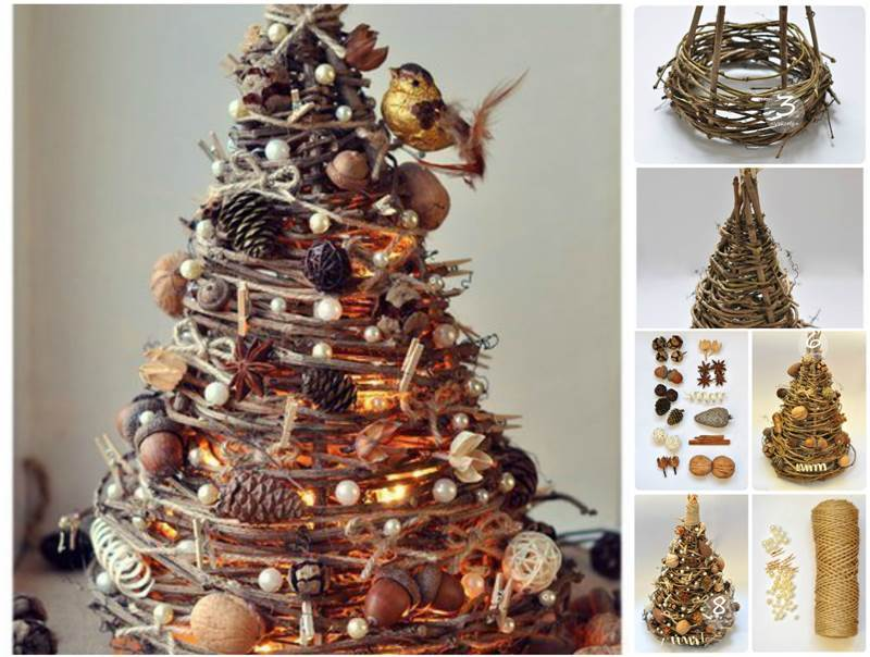 creative ideas diy gorgeous christmas tree from tree branches - Christmas Tree Branch Decorations