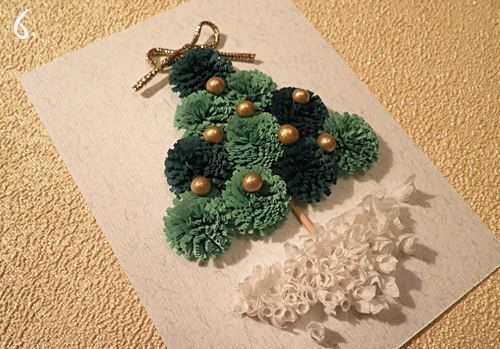 Creative Ideas - DIY Mini Quilling Christmas Tree 6