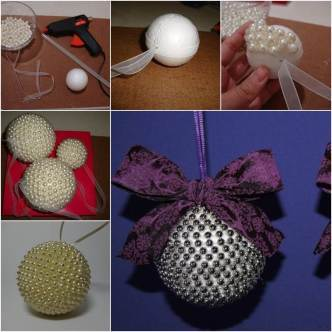 how to make beaded christmas ornaments from styrofoam balls Archives ...