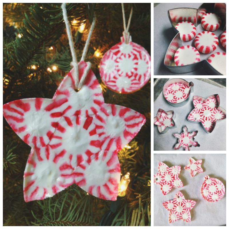creative ideas diy peppermint candy christmas ornaments - Candy Christmas Ornaments
