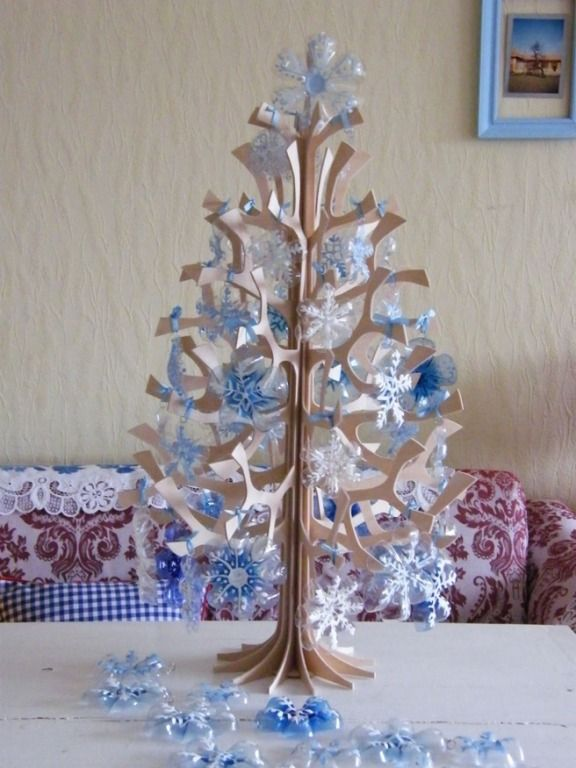 Creative Ideas - DIY Plastic Bottle Christmas Tree 10