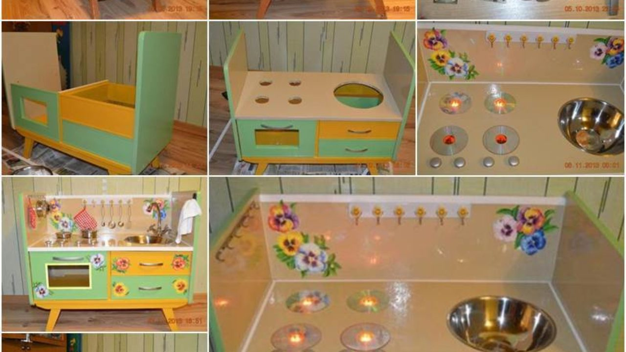 Creative Ideas Diy Repurpose An Old Nightstand Into A Play Kitchen