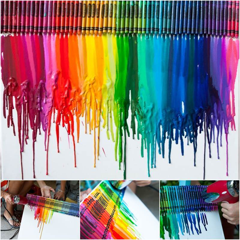 Canvas Ideas Part - 41: Creative Ideas - DIY Stunning Melted Crayon Art Canvas
