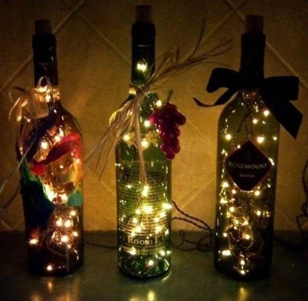 Wine Bottle Decorations Diy Fascinating Ideas  Diy Stunning Wine Bottle Light Inspiration Design
