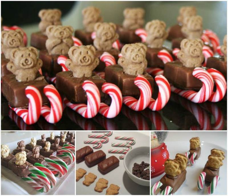 creative ideas diy teddy bear christmas sleigh snacks