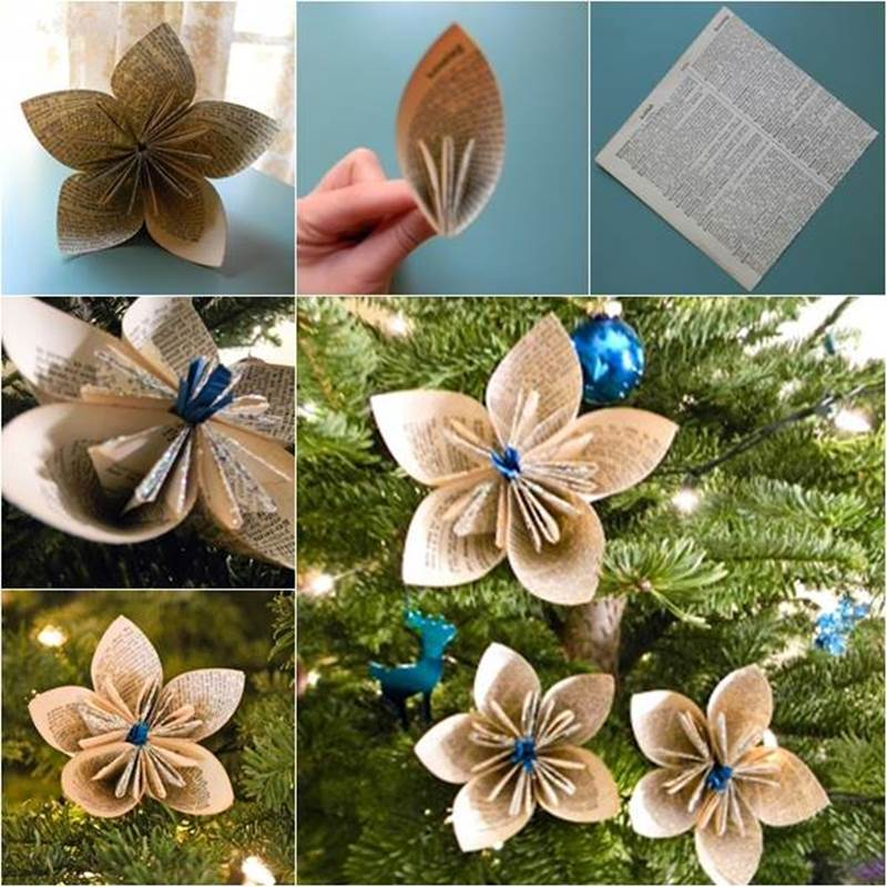 Best Creative Ideas - DIY Vintage Origami Kusudama Christmas Ornaments OZ27