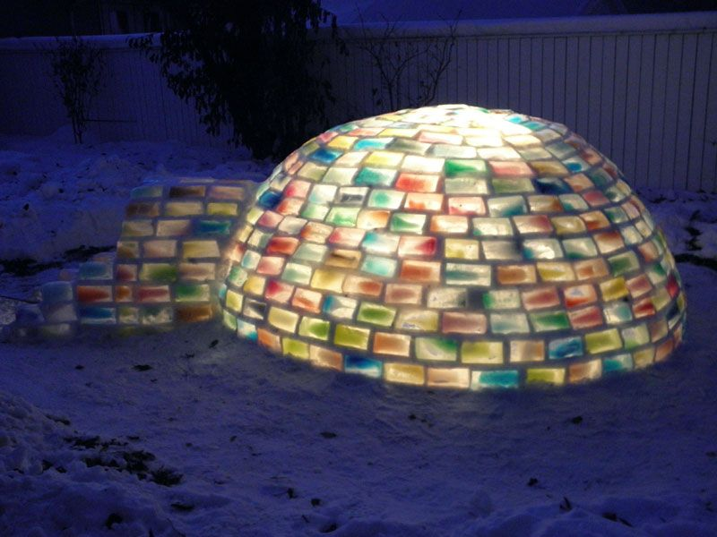 Creative Ideas - How to Build a Rainbow Igloo Using Milk Cartons 10