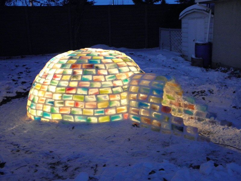 Creative Ideas - How to Build a Rainbow Igloo Using Milk Cartons 11