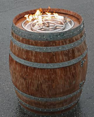36+ Creative DIY Ideas to Upcycle Old Wine Barrels --> Wine Barrel Fire Pit