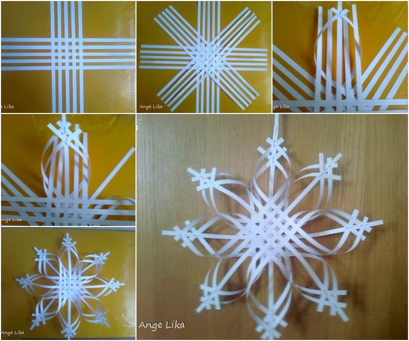 creative ideas diy 3d paper snowflake christmas ornament - Handmade Paper Christmas Decorations