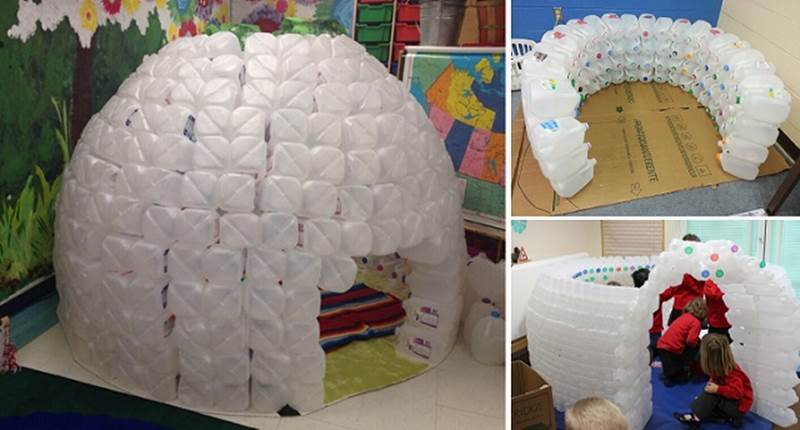Creative Ideas – How to Build an Igloo Using Milk Jugs