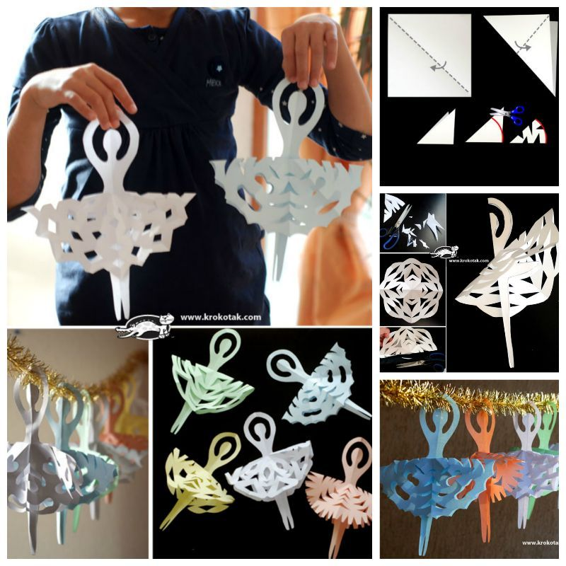 Creative Ideas - DIY Adorable Snowflake Ballerinas