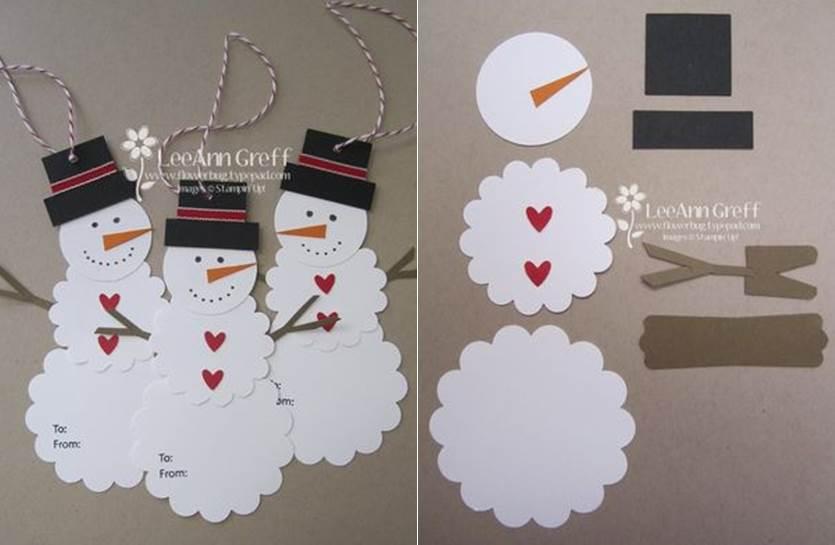 Creative Ideas Diy Cute Paper Snowman Gift Tag