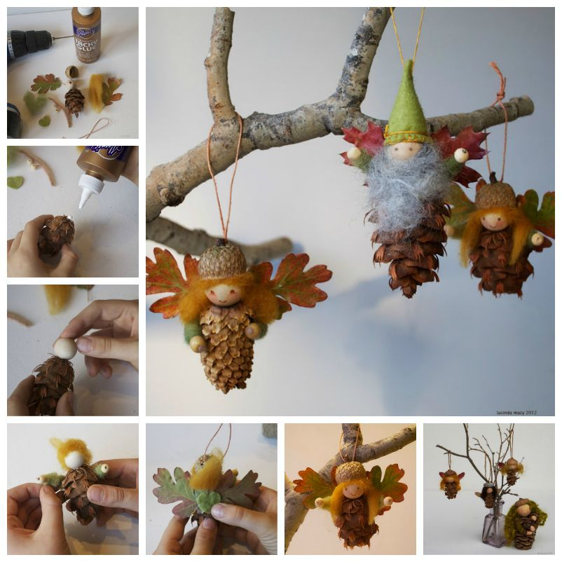 Creative Ideas - DIY Cute Pinecone Fairy Ornaments