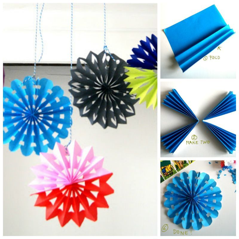 Creative ideas diy easy folded paper snowflake ornaments for Creative craft ideas with paper