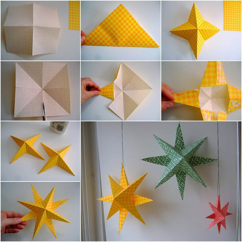 Superior Creative Ideas   DIY Easy Paper Star Decor