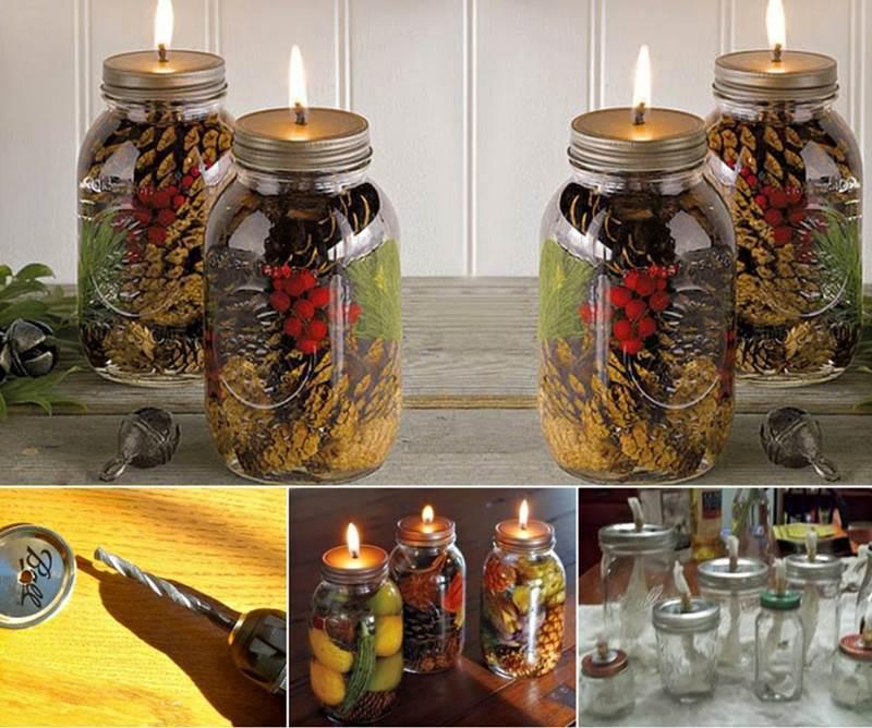 Candle Jar Decorating Ideas Magnificent Ideas  Diy Mason Jar Oil Candles Decorating Inspiration