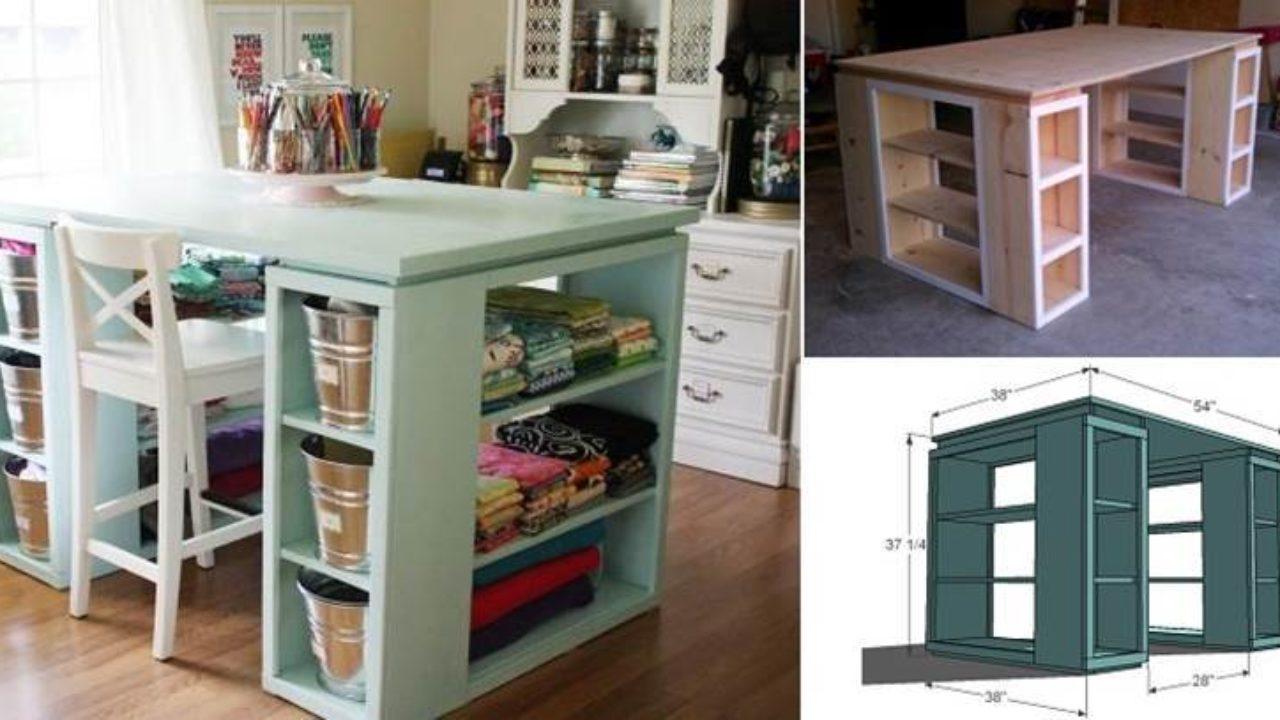 Creative Ideas - DIY Modern Craft Table