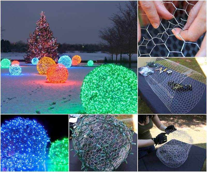 creative ideas diy outdoor christmas light balls - Christmas Light Balls For Trees