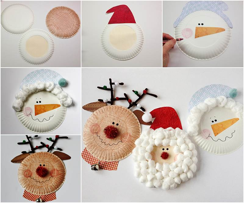 creative paper craft ideas creative ideas diy paper plate characters 4186
