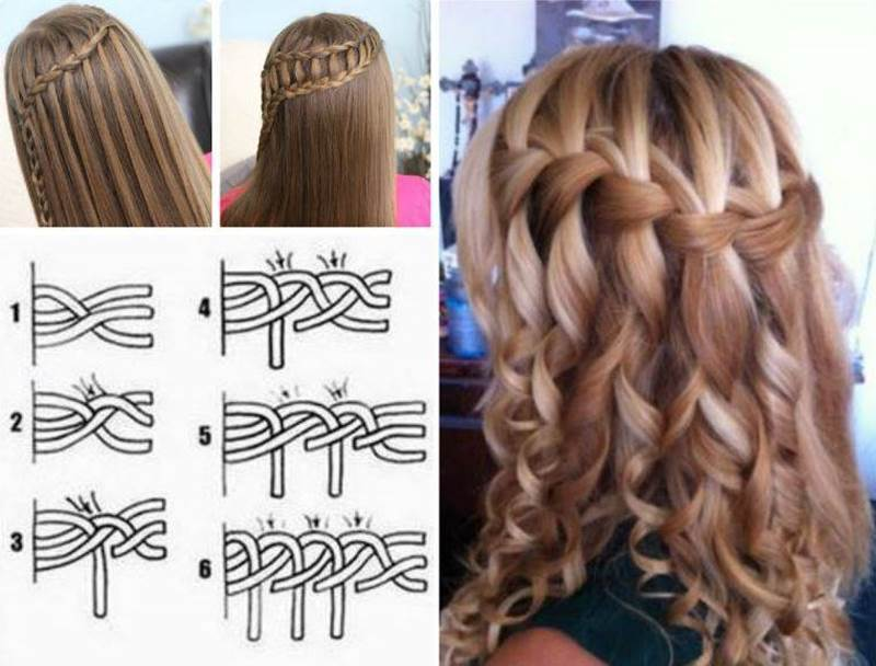 How to diy double waterfall triple french braid hairstyle solutioingenieria Gallery