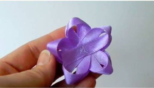 DIY Easy Ribbon Flower Bow 5