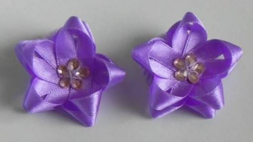 DIY Easy Ribbon Flower Bow 6
