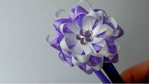 DIY Easy Ribbon Flower Bow 7