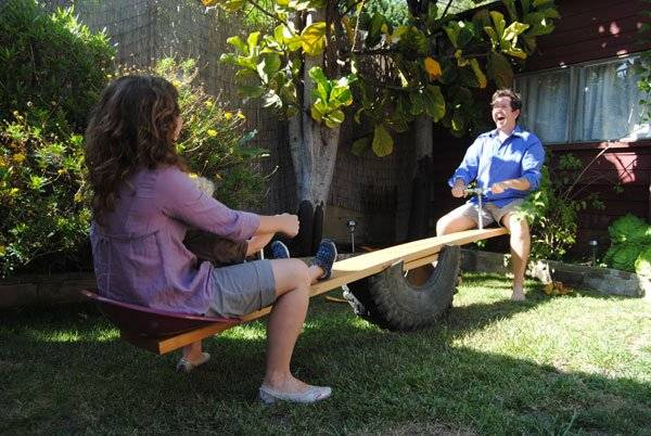 How to Repurpose an Old Tire into a Seesaw DIY Tutorial